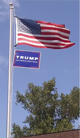 Trump sign on my Flagpole