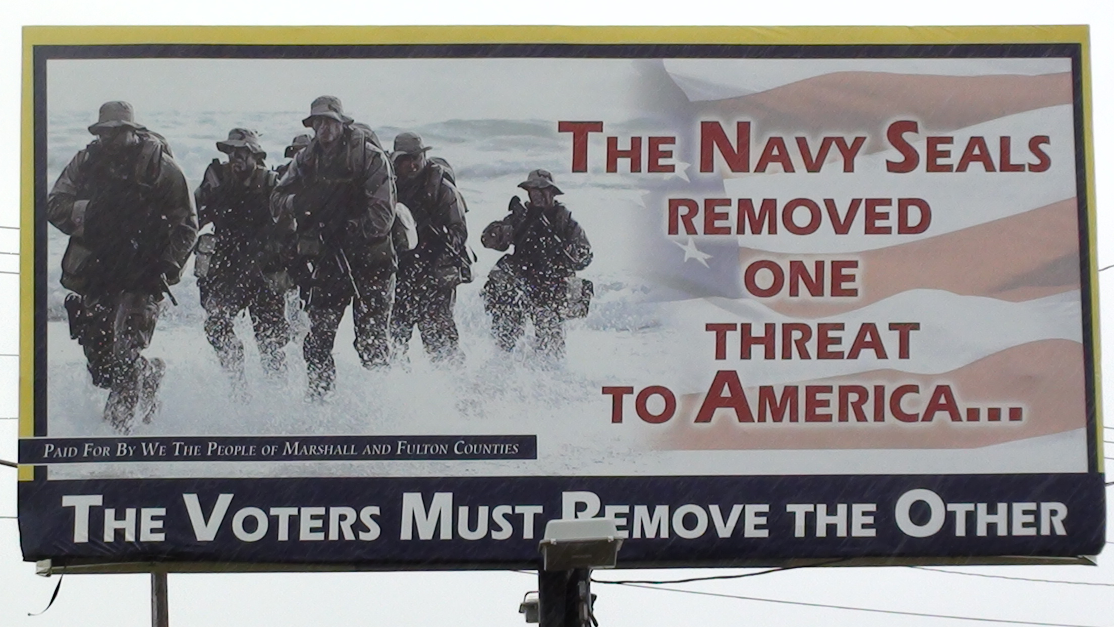 Navy Seals billboard